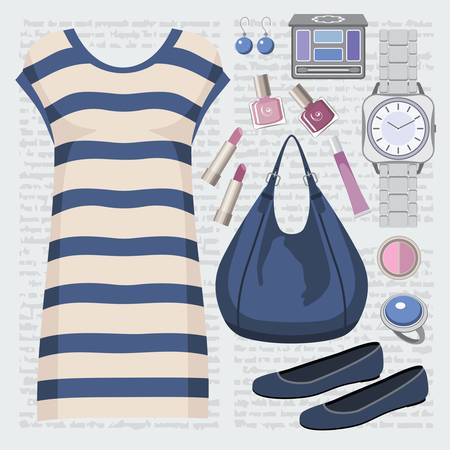 Fashion set with a tunic Stock Vector - 15239229