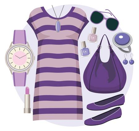 wristwatch: Fashion set with a tunic