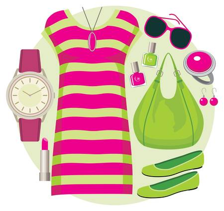 Fashion set with a tunic Stock Vector - 15239232