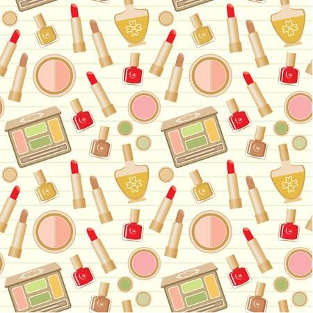 nail polish bottle: Seamless cosmetics pattern