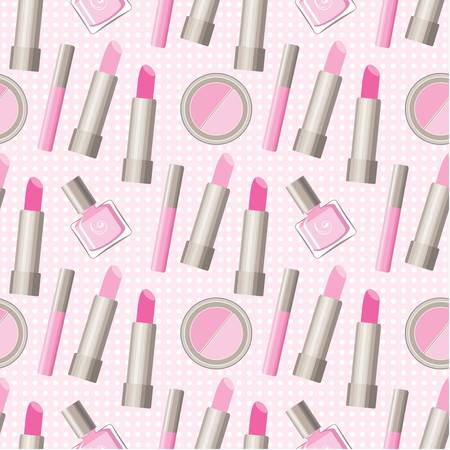 blush: Seamless cosmetics pattern