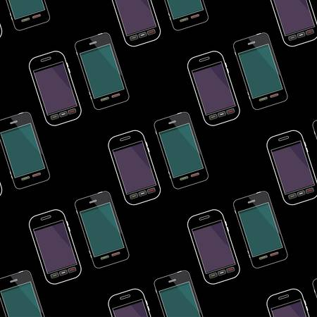 Seamless smartphones pattern Stock Vector - 15520177