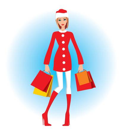 Christmas shopping Stock Vector - 15712204