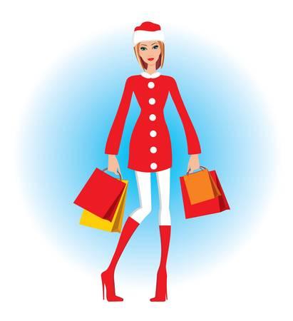 santa s bag: Christmas shopping