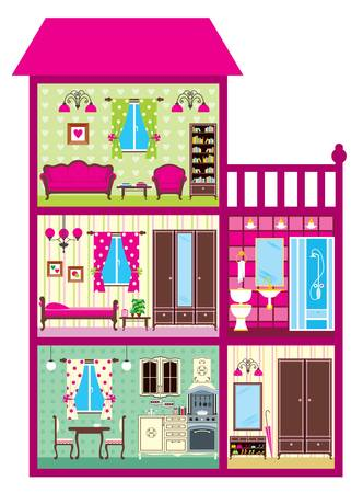 House for the girl in a cut Stock Vector - 15833879
