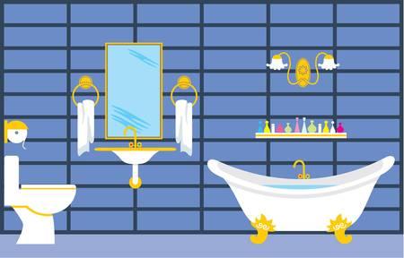 domestic bathroom: Bathroom Illustration