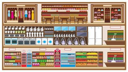 cassa supermercato: Centro commerciale in un taglio
