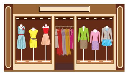 Boutique  Women s clothing shop Vector