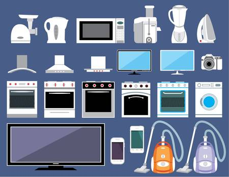Set of household appliances Stock Vector - 16194839