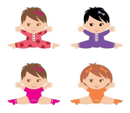 niño preescolar: Juego de niñas