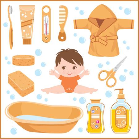 bast: Set of children s things for bathing