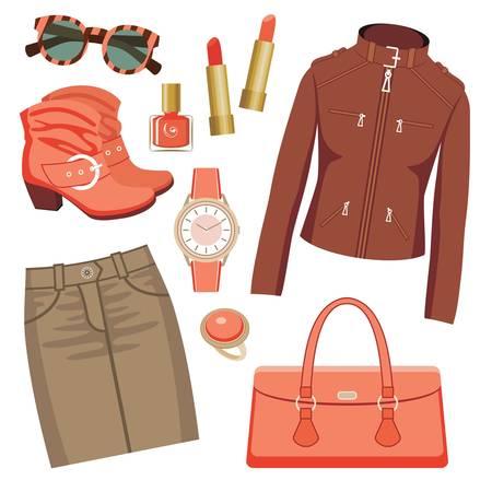 denim skirt: Fashion set with skirt and a jacket