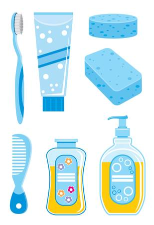 Set of  things for bathing Vector
