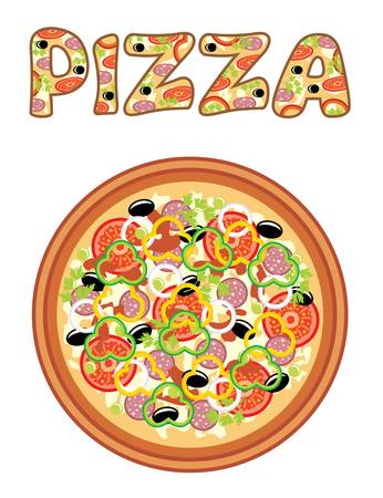Pizza Stock Vector - 16638690