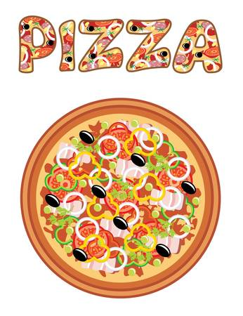 cartoon food: Pizza