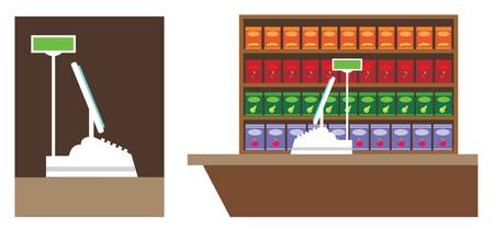 Cash register. Vector
