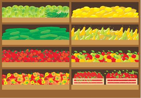 Vegetable shop Stock Vector - 16638704