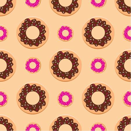 Seamless donuts pattern Vector