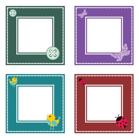 Set of cute frame Vector
