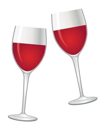 Glasses with red wine Stock Vector - 16936055