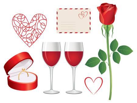 Valentine day icon set Stock Vector - 16936054