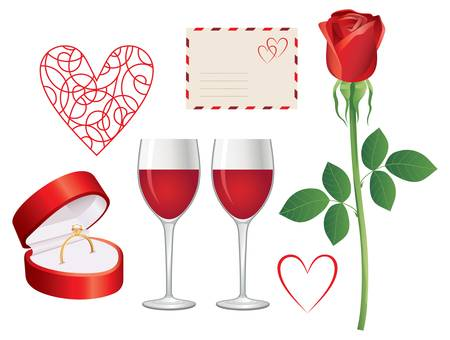 solemn: Valentine day icon set