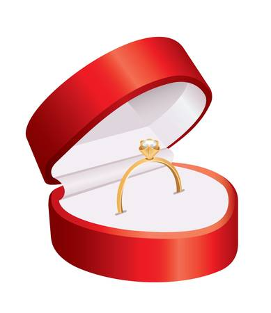 jewelry boxes: Ring in a red box