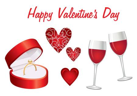 Valentine day icon set Stock Vector - 16948106