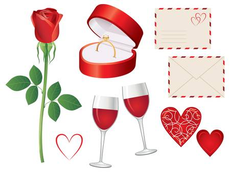 Valentine day icon set Vector