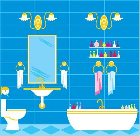 осветительное оборудование: Изображение ванная комната с аксессуарами и осветительного оборудования.