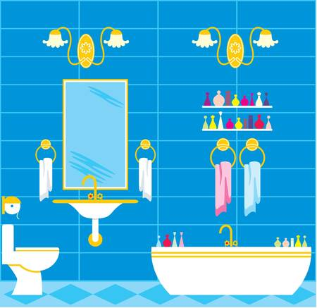 toiletry: Picture of a bathroom with accessories and lighting equipment.