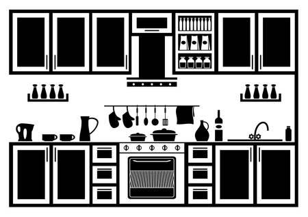 domestic kitchen: Icon of kitchen