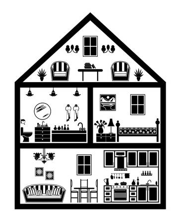 Icon of house with planning Stock Vector - 17448292