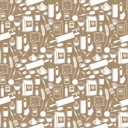 spice cake: Seamless products pattern