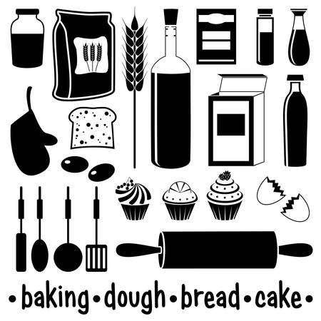 Set of products for baking Stock Vector - 18358060