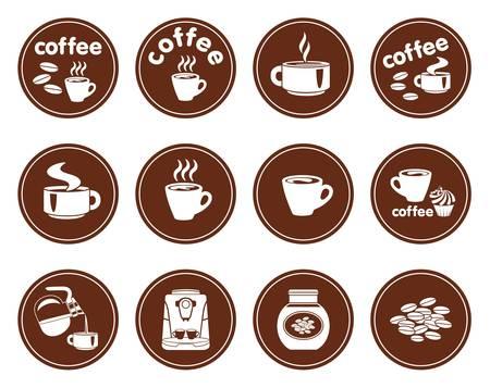 coffeepot: Set of coffee icons
