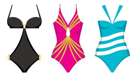 swimming suit: Three swimming suits Illustration