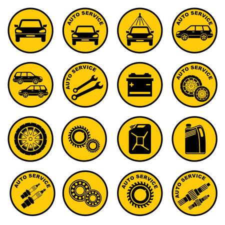 fix gear: Car repair service icon
