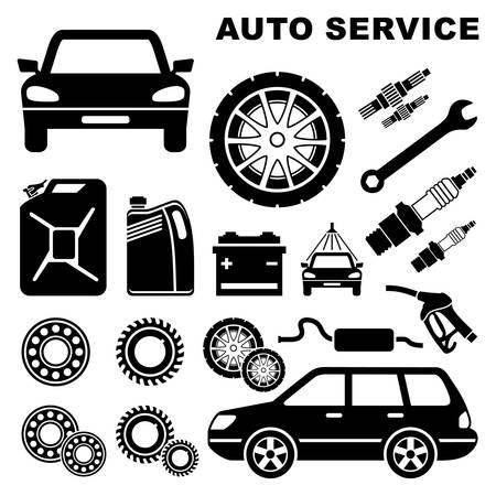 Car repair service icon Stock Vector - 18870851