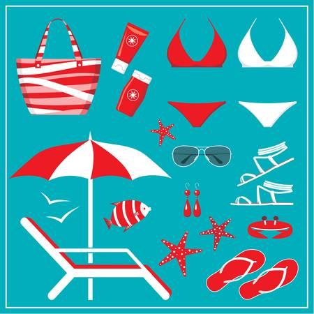 blue bikini: Fashionable set with a swimming suit