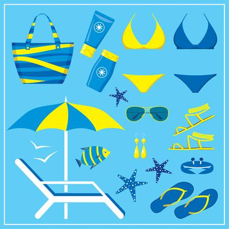 Fashionable set with a swimming suit Stock Vector - 18870850