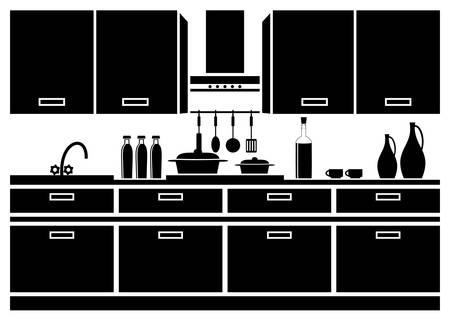 Icon of kitchen Stock Vector - 19713720
