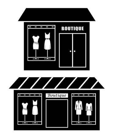 Black icon of boutique Stock Vector - 20680968