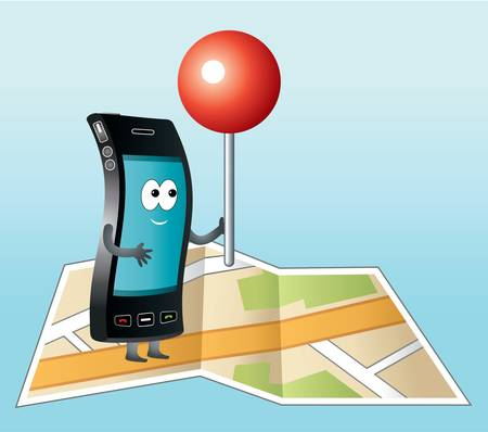 Smartphone with GPS icon Stock Vector - 20910446