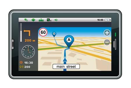 GPS navigator Vector