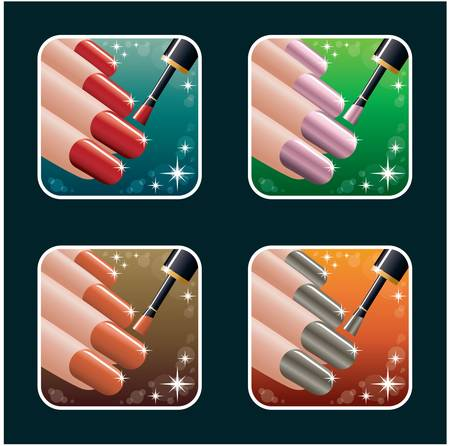 Set of icons of women Vector