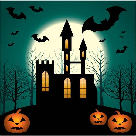 Halloween Scenery.    Vector