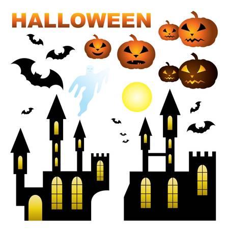 Set of Halloween  EPS10, gradient Vector