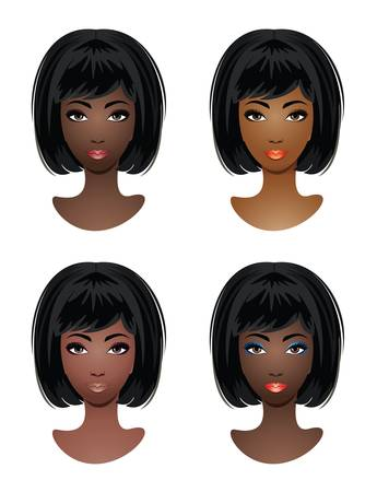african woman hair: Makeup for African-American women