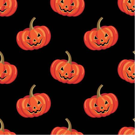 pumpkin border: Seamless halloween pattern  vector illustration Illustration